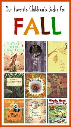 Fall themed picture books perfect for toddlers, preschoolers and primary grades! (Our Favorite Children's Books for Fall)~ buggyandbuddy.com