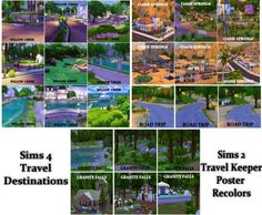 """deessims2downloads: """"Recolors of EA's Bon Voyage Travelkeeper Poster - will also…"""