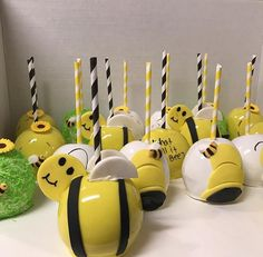 Bumble Bee inspired candy apple