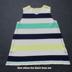 how to sew A line dress for a little girl