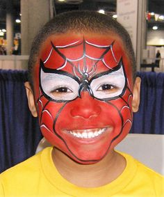 we get TONS of requests for Spider-men at our events! // Face Painter- spiderman superhero