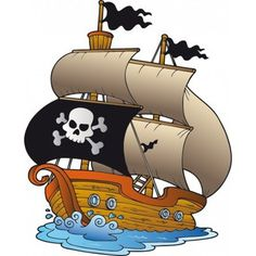 Bateau Coloriage Couleur.Coloriage Dun Dessin De Bateau De Pirates Dote De Trois 6119095