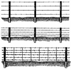 The basics of building barbed wire or high tensile barbed wire.