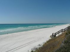 Seacrest Beach on 30-A...Gulf Coast of Florida. Keep moving on 30-A and you will be in Alys Beach, then Rosemary Beach. The most beautiful beaches ever. Hubby is taking me there week of May11th. I graduate from college that day and it's my birthday! Best gift I could ask for:)