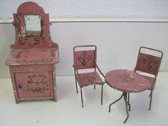 Antique minature dollhouse furniture