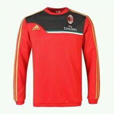 13-14 AC Milan Red Long Sleeve Crew Sweatshirt