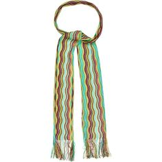 Pre-owned Missoni Striped Knit Scarf ($50) ❤ liked on Polyvore featuring accessories, scarves, blue, striped scarves, knit scarves, patterned scarves, print scarves and missoni scarves