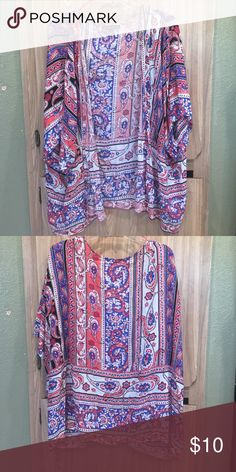 Colorful kimono Fun design on this short kimono. A bit wrinkled but in perfect condition Tops