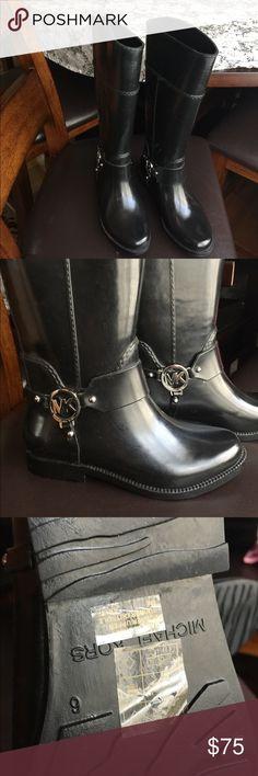 Michael Kors Fulton Harness Tall Rainboot Fulton Harness Tall Rainboot, Black, Rubber material, Size 6M.  Not used. Michael Kors Shoes Winter & Rain Boots