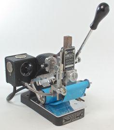 vintage KINGSLEY MACHINE CO. (model M-60) hot foil  stamping machine