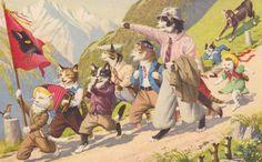 Rare Mainzer Card no 4672  CATS on a SCHOOL by AgnesOfBohemia, $7.99