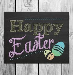Happy Easter Printable Chalkboard Art  by ScubamouseStudiosJr, $5.00