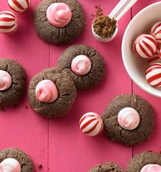 Check out this delicious recipe for Chocolate Peppermint Thumbprints from 25 Merry Days at Kroger!