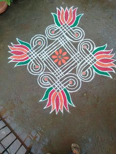 Rangoli Designs Latest, Rangoli Designs Flower, Rangoli Border Designs, Rangoli Designs Images, Rangoli Designs With Dots, Rangoli Designs Diwali, Beautiful Rangoli Designs, Free Hand Rangoli Design, Small Rangoli Design