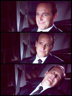 """Coulson faces (""""Agents of SHIELD"""") He looks like the guy from that cartoon (Simpsons?) where he turns to his wife and says """"You love me"""" after doing something"""