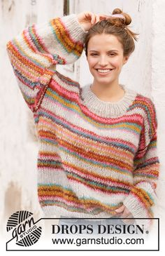 Moroccan Market Muse / DROPS 212-20 - Kostenlose Strickanleitungen von DROPS Design Drops Design, Muse, Sweater Knitting Patterns, Easy Knitting, Crochet Diagram, Mohair Sweater, Pulls, Knit Crochet, Design Patterns