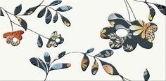 FARO ORANGE INSERTO FLOWER 29,7X60 - Cersanit