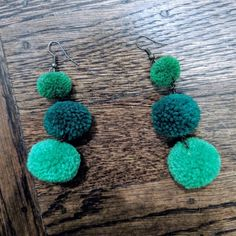 handmade Jewelry | Pompom Earrings | Poshmark Crochet Earrings, Handmade Jewelry, Polka Dots, Drop Earrings, Outfit, Etsy, Things To Sell, Outfits, Handmade Jewellery
