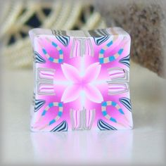 Pink & White Kaleidoscope Cane by Jae Jewelry & The Pleasant Pheasant