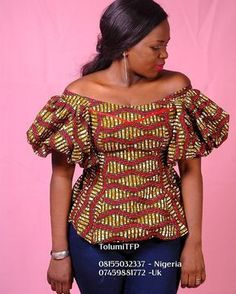"199 Likes, 7 Comments - Tolumi Abiola O. (@tolumitfp) on Instagram: ""More pieces for you to shop. Sizes from 6- 20. It's an Ankara Prints off shoulder top.. Wear it…"""