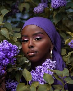 Black Girl Art, Black Girl Magic, Black Girls, Black Girl Aesthetic, Purple Aesthetic, Head Scarf Styles, Dark Skin Beauty, Black Beauty, Brown Skin Girls