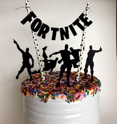 Cake Topper, Fortnite Birthday Party Decorations, Pennant Cake Topper, Video Game Topper, G - Kinder / - Geburtstag - Elegant Birthday Party, Birthday Party Decorations Diy, 9th Birthday Parties, Fairy Birthday Party, Cake Decorations, 8th Birthday, Birthday Ideas, Cake Birthday, Cocktails For Parties