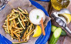 Lightly Fried Zucchini And Tzatziki
