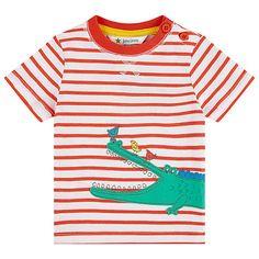 Buy John Lewis Crocodile Stripe T-Shirt, Red/White Online at johnlewis.com