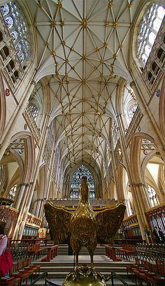 York Minster, York, England... Would love to know more about the bird statue