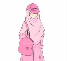 I love hijab . Cute Muslim Couples, Muslim Girls, Muslim Women, Girl Cartoon, Cartoon Art, Muslim Pictures, Hijab Drawing, Islamic Cartoon, Hijab Cartoon