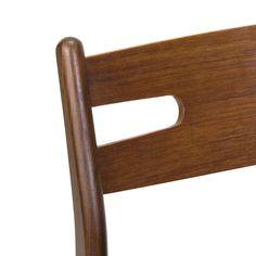 Teakhouten vintage Deense eettafel stoel jaren zestig - Pool Houses, Magazine Rack, Cabinet, Retro, Chair, Storage, Interior, Furniture, Home Decor