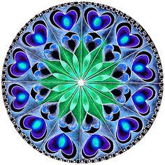 Cut Glass Mandala Window Cling Suncatcher Jewel Heart Decoration Photo Print Green & Blue Art Decal Window Decor Faux Stained Glass Cling by WindowClingsGalore on Etsy Mandala Art, Mandala Drawing, Mandala Design, Kaleidoscope Art, Coloring Books, Coloring Pages, Vishuddha Chakra, Art Carte, Fractal Art
