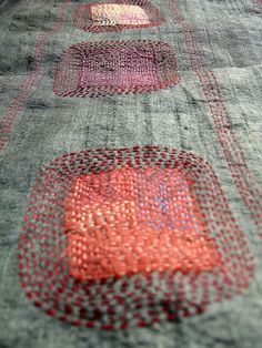Million Little Stitches: Mineral. This would be a fun idea for mending jeans.