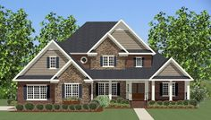 This 2 story  features 3,447 sq feet. Call us at 866-214-2242 to talk to a House Plan Specialist about your future dream home!