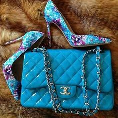 Chanel. The bag and shoes love the color