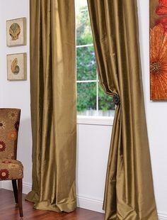 Taupe Gold Thai Silk