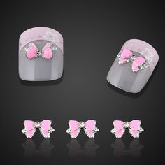 10pc Aggressive Pink Drop Of Oil Bow 3d Nail Charms For Nail Art Decorations Glitter Alloy Nails Tools Free Shipping SMS - F A S H I O N http://www.sms.hr/products/10pc-aggressive-pink-drop-of-oil-bow-3d-nail-charms-for-nail-art-decorations-glitter-alloy-nails-tools-free-shipping/ US $0.78
