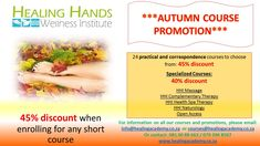 *** Autumn Celebration *** 45% OFF All Short Courses 40% OFF On Specialized Courses