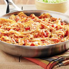 Chicken Enchilada Skillet Recipe: 30-Minute Meal - 30 Minute Meal: Make tonight a fun, festive, and EASY night with this chicken enchilada skillet dinner.