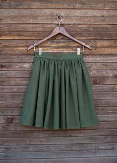 Купить Юбка хаки, шерстяная - хаки, юбка, шерстяная юбка, теплая юбка, зимняя юбка