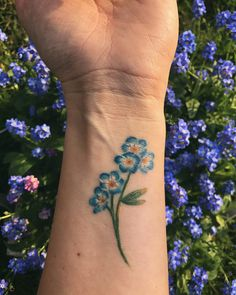 Forget me not tattoo Alaska State flower