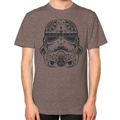 Stormtrooper Sugar Skull Unisex T-Shirt (on man)