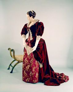 silk brocade silk velvet Pingat dress