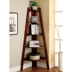 Furniture of America Kiki 5-tier Corner Ladder Display Bookcase | Overstock™ Shopping - Great Deals on Furniture of America Media/Bookshelves