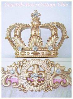 Cama de Glam oro corona pabellón Teester por sweetlilboutique