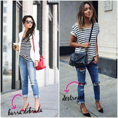 Listras preto e branco: 10 looks com camisetas – TPM Moderna