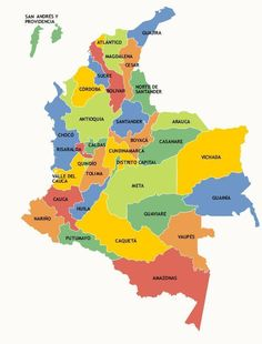 Map of Colombia. Colombia Map, Geography Map, Ana Ivanovic, Spanish Classroom, English Lessons, Mexico City, American History, Scene, Logos