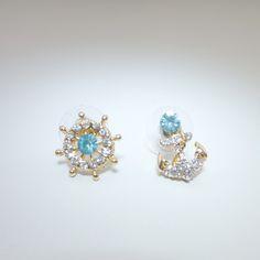 Anchor #goldplated #earrings C$19.99 https://www.ibrightenshop.com/store/p7/Anchor_gold_plated_earrings_-_blue.html