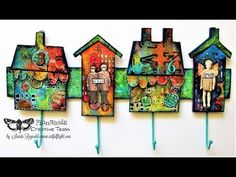 A home is not a place...It's a feeling - altered key hanger for Finnabai...