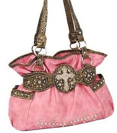 Love this style Pink Cross Purse!